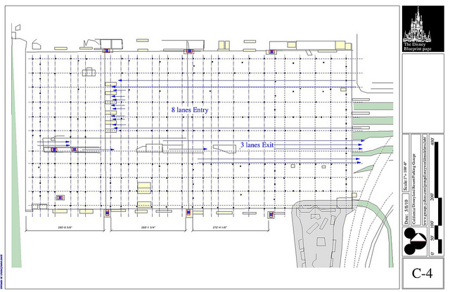 Disney parking garage blueprints. Photo credit: Ed @ flickr.com, Creative Commons Attribution-NonCommercial-ShareAlike 2.0 Generic (CC BY-NC-SA 2.0)