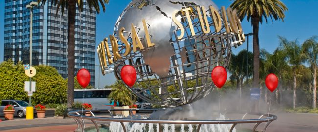 Entrance to Universal Studios Hollywood