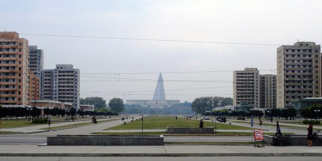 Pyongyang Park. Photo by Kristoferb at English Wikipedia [CC BY-SA 3.0 (https://creativecommons.org/licenses/by-sa/3.0) or GFDL (http://www.gnu.org/copyleft/fdl.html)], via Wikimedia Commons