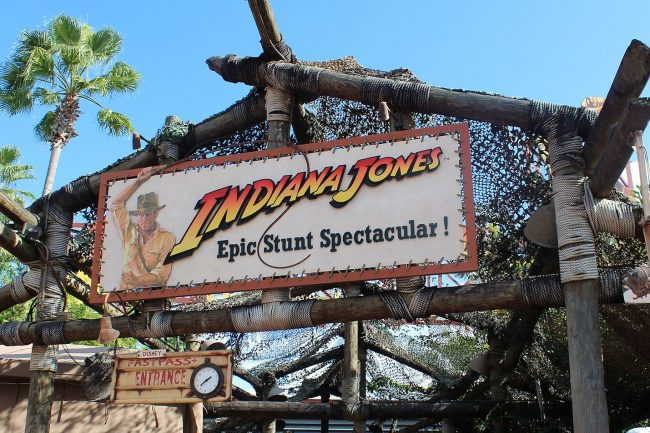 Indiana Jones Stunt Spectacular entrance, by Theme Park Tourist (Disney's Hollywood Studios) [CC BY 2.0 (http://creativecommons.org/licenses/by/2.0)], via Wikimedia Commons
