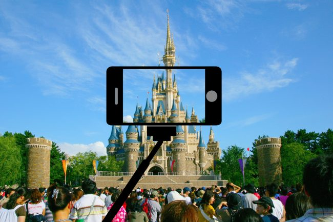 Selfie stick at Magic Kingdom. Depositphotos_29630245_modified