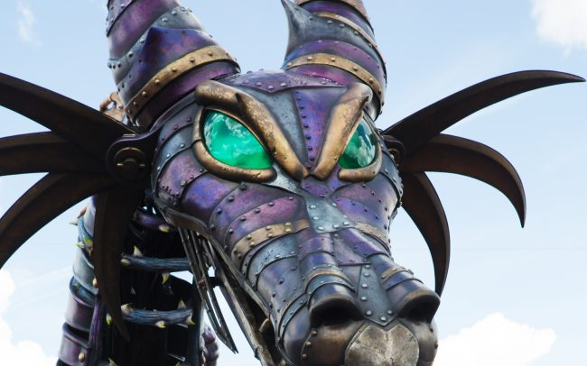 The dragon in Disney's Festival of Fantasy Parade. Photo from DepositPhotos.