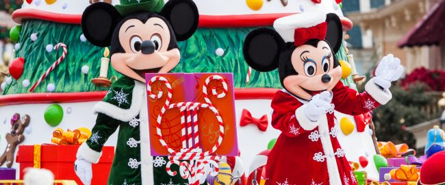 PARIS – December 31, 2013 – Disney Christmas Parade in Disneyland Paris.