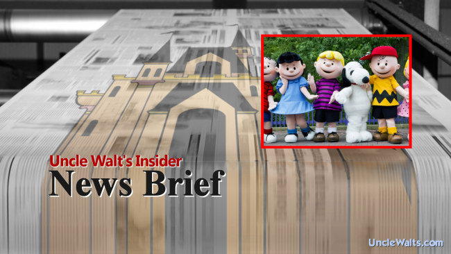 News Brief: Knott's Berry Farm hosts Peanuts celebration; allergy warnings posted.