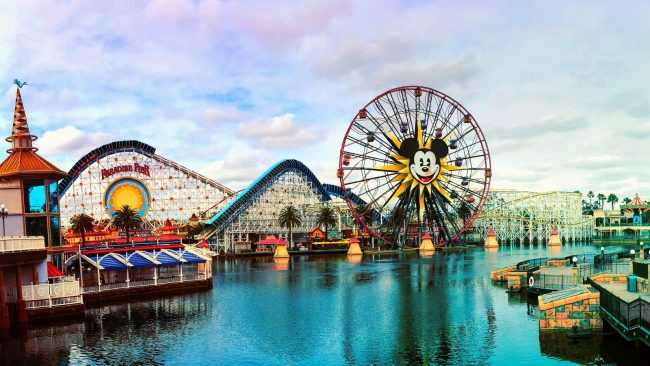 Paradise Pier at Disney California Adventure Park, soon to be Pixar Pier. Photo by Carlyc999 via Wikimedia Commons, Creative Commons Attribution-ShareAlike 4.0 International (CC BY-SA 4.0).