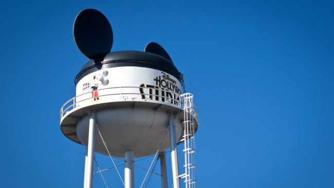 The on-again, off-again Earfful Tower at Disney's Hollywood Studios.