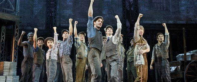 Newsies, a Disney Theatrical Production under the direction of Thomas Schumacher presents Newsies, music by Alan Menken, lyrics by Jack Feldman, book by Harvey Fierstein, starring Dan Deluca (Jack Kelly), Steve Blanchard (Joseph Pulitzer), Stephanie Styles (Katherine Plumber), Angela Grovey (Medda), Jacob Kemp (Davey), Zachary Sayle (Crutchie), Anthony Rosenthal or Vincent Crocilla (Les) and Matthew J. Schechter (Les) under the direction of Jeff Calhoun, choreographed by Christopher Gattelli, North American Tour premiere Thursday October 30 Philadelphia.