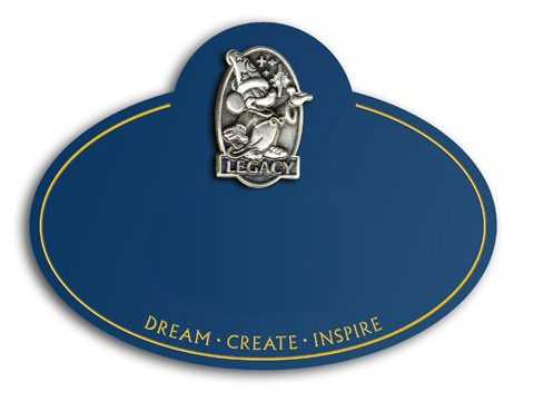 An original Legacy Award name tag.