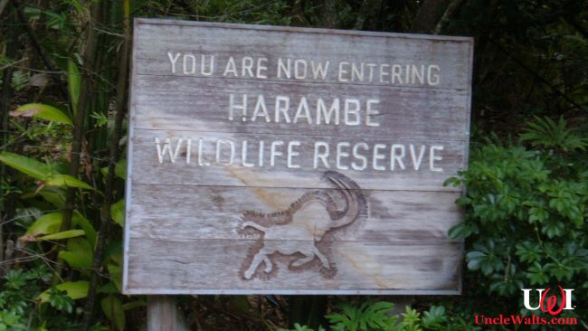 Sign seen at the entrance of Kilimanjaro Safaris. Photo by BrokenSphere [CC BY-SA 3.0], via Wikimedia Commons