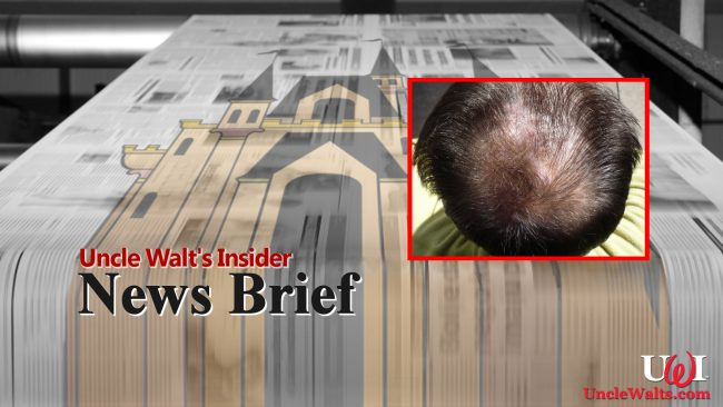 News Brief about baldness. Inset photo by Ambernectar 13 (CC BY-ND 2.0) via Flikr.
