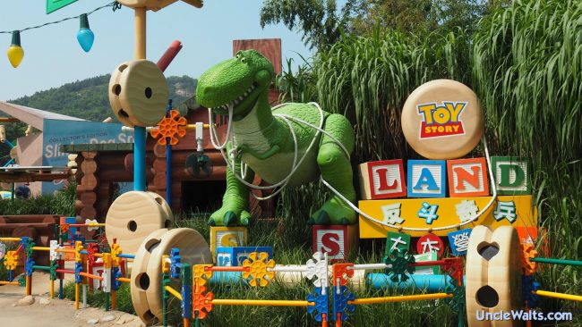 Toy Story Land in Hong Kong, which is also being shipped to Florida. Photo by Laika ac from UK [CC BY-SA 2.0], via Wikimedia Commons.