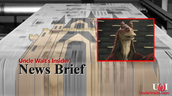 The Jar Jar attraction 'crushes' the former interactive turtle! Get it?