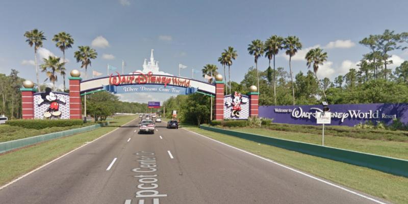 Epcot Center Drive entrance. © 2018 Google / Street View