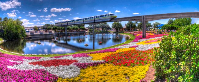 Free food and a monorail. Photo by Eric Marshall [CC BY 3.0] via Wikimedia Commons.