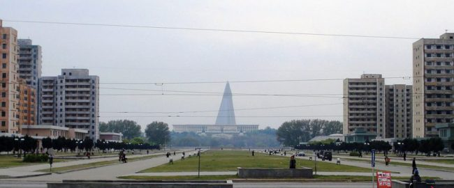 Pyongyang Park. Photo by Kristoferb [CC BY-SA 3.0], via Wikimedia Commons