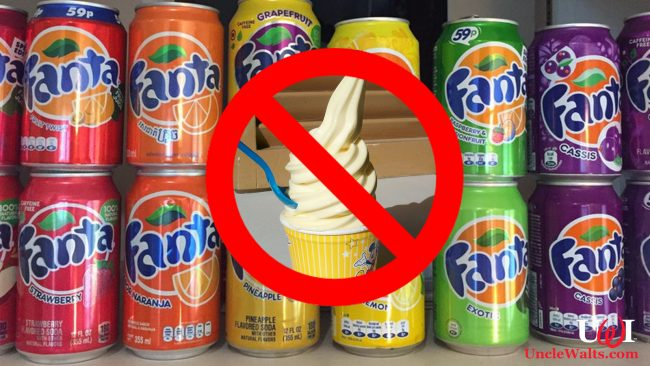 Just some of the many new Fanta Whip flavors. Photo by anaythanay via Reddit and Sam Howzit [CC BY 2.0] via Flickr.