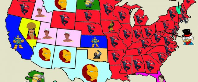 Favorite Marvel character by state. Copyright 2018 Uncle Walt's Insider.
