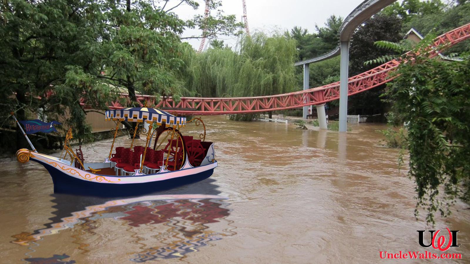 hershey adds chocolate riverboat ride  wonka threatens
