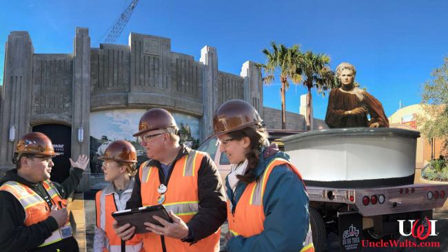 An audio-animatronic of Bea Arthur from the Star Wars Holiday Special arrives at Disneyland.