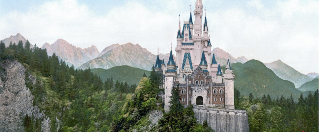 "Artist's conception of the remodeled ""Cinderellschwanstein Castle."" Photos from Pixabay & Pxhere."