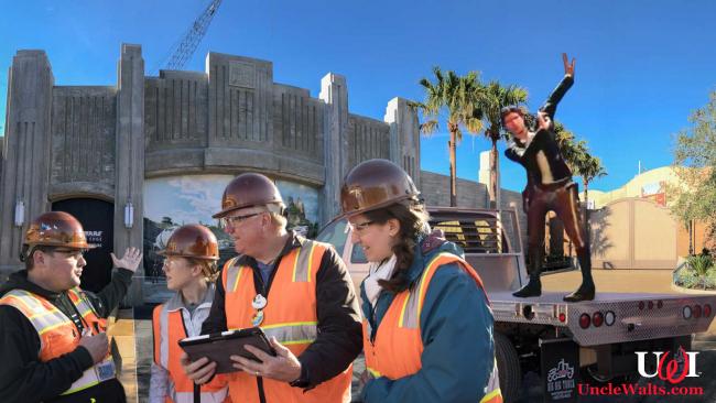 Animatronic Dancing Han Solo arrives at Disneyland.