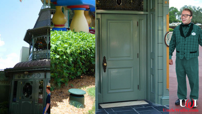 Disney's Go Away Green - building, speaker, Club 33 door, & Phil