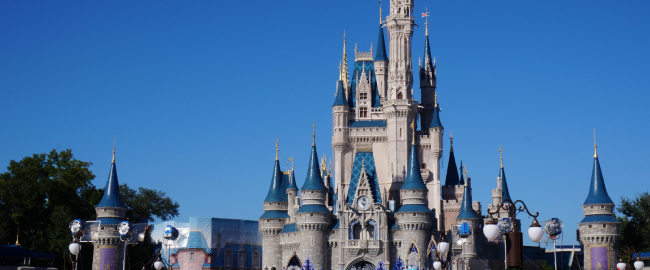 Cinderella Castle (inflatable) at Walt Disney World's Magic Kingdom Park. Public domain, via Pixabay.