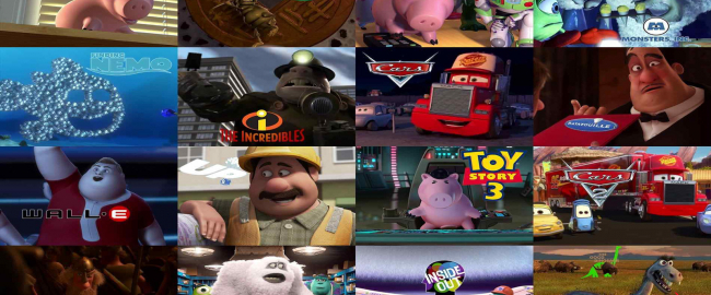 A small sampling of John Ratzenberger's Pixar characters. Photo courtesy Ratzenberger.com.