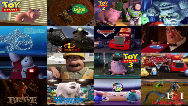 A small sampling of John Ratzenberger's Pixar characters. Photo courtesy Ratzenberger.com.