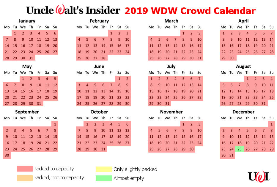 2019 Crowd calendar. TL:DR version: Stay home. (Click to enlarge.)