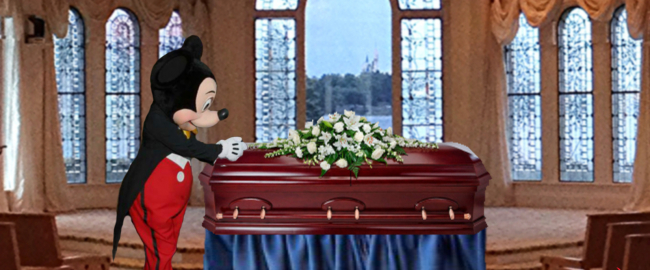 Now Mickey will cry over your dead body! Photo by Chad Sparkes [CC BY 2.0] via Flickr, modified.
