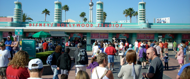 Hollywood Studios guests wander right into the park. Photo by Brian Hubbard [CC BY-NC 2.0] via Flickr.