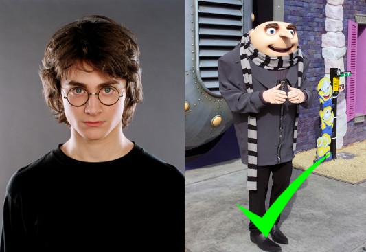 We endorse challenger Gru over incumbent Harry Potter.