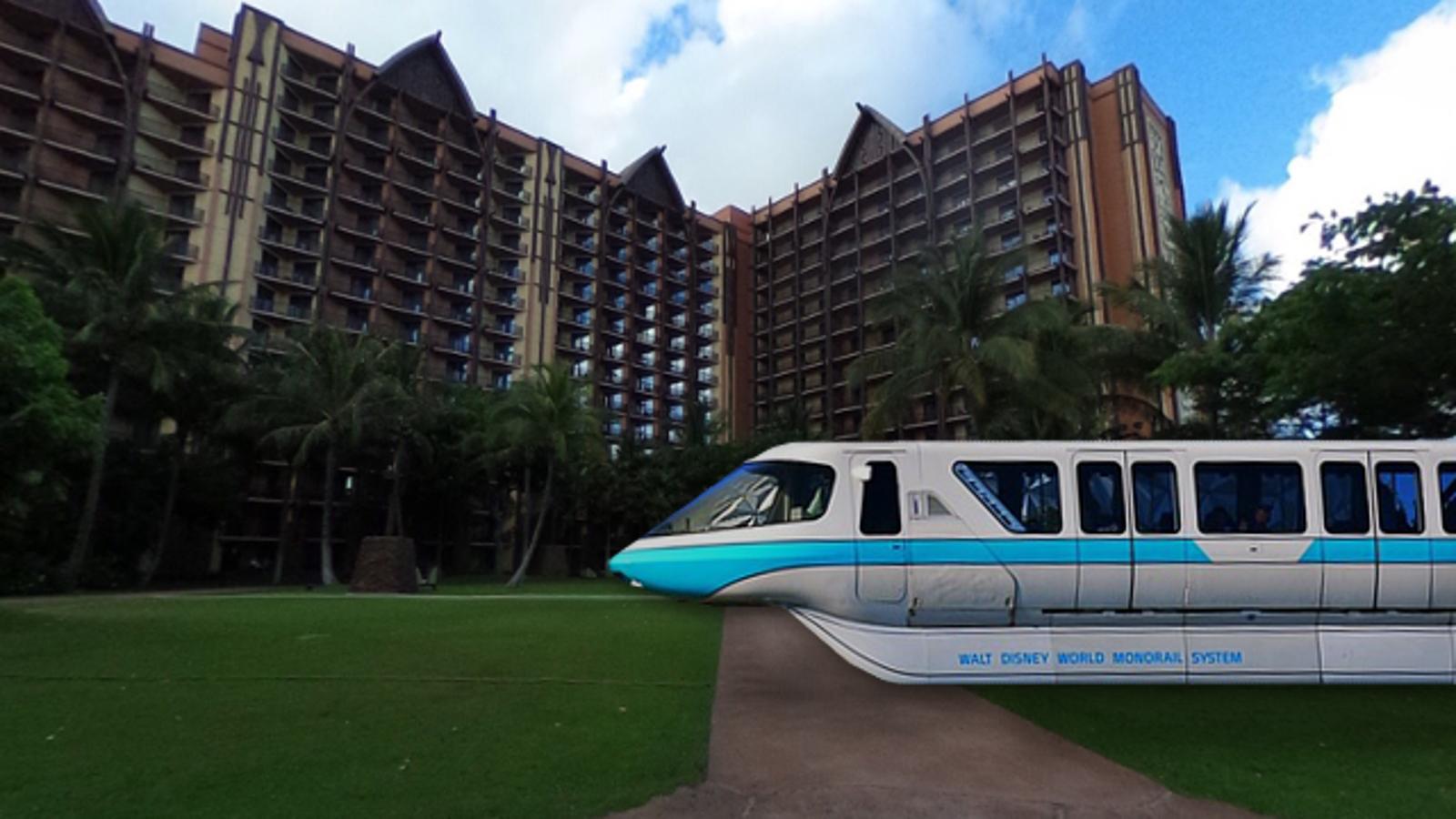 Monorail Blue visits Disney's Aulani Resort. Photo © 2018 Google Street View.