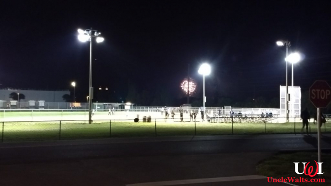 Fireworks and CM softball. Photo by X.