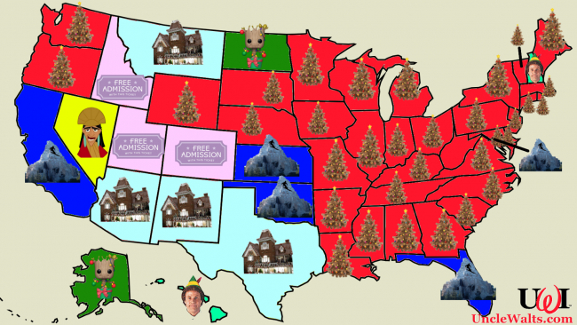 Favorite Disney holiday traditions by state!