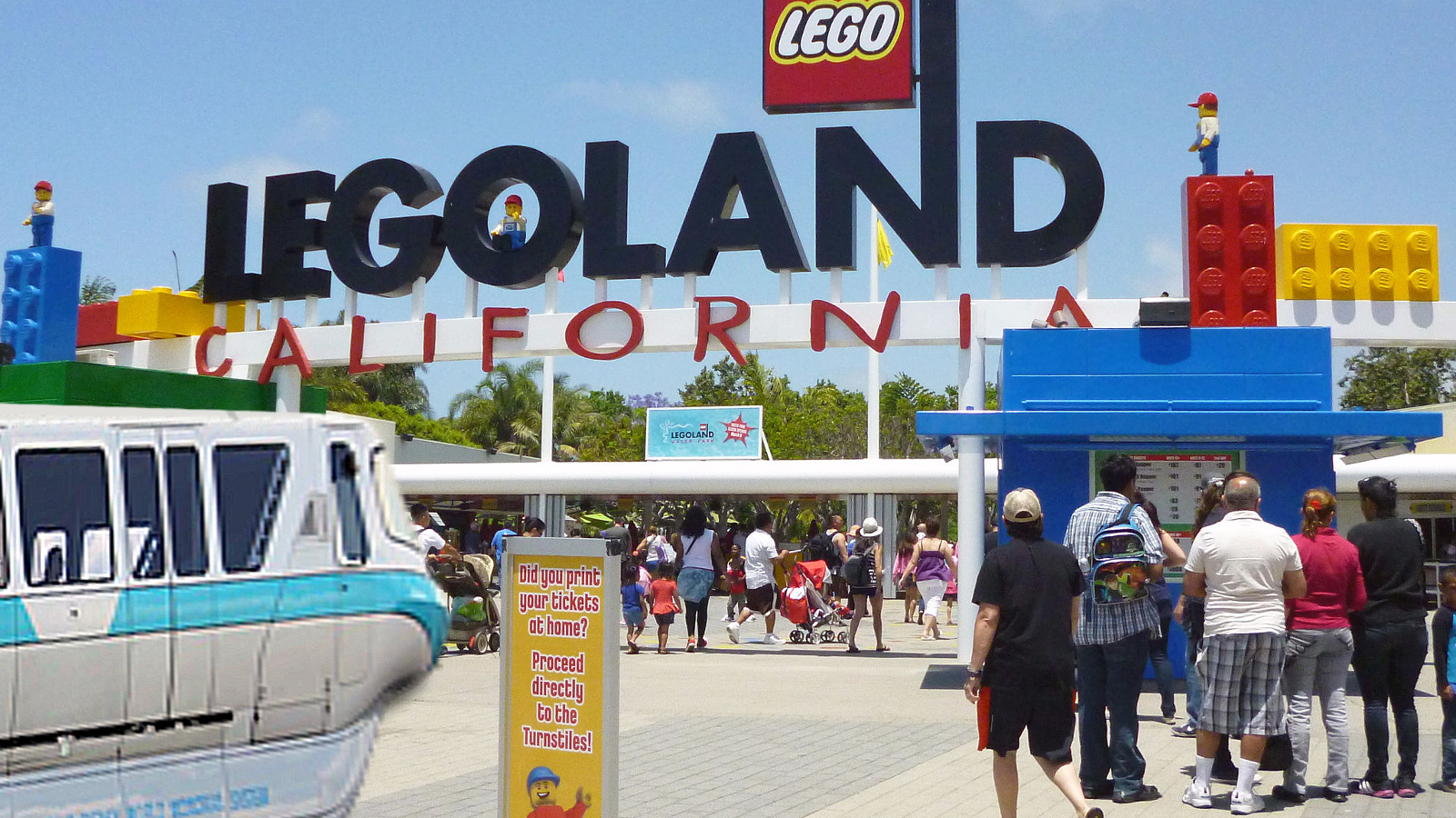 And next, a stop at Legoland. Photo by Coolcaesar [CC BY-SA 3.0] via Wikimedia Commons.