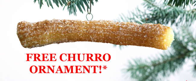 Our gift to you - a free Churro Christmas Tree Ornament!