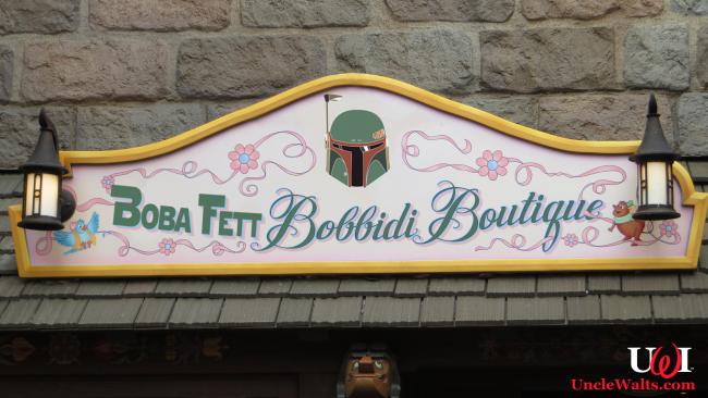 Disney's new Boba Fett Bobbidi Boutique. Image by Ken Lund [CC BY-SA 2.0] via Flickr, modified.