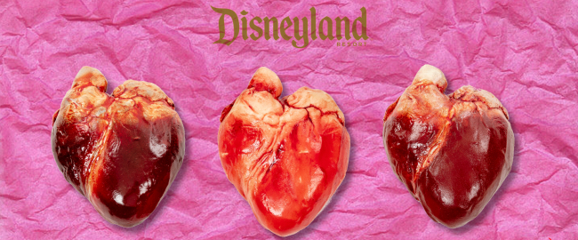 New handmade chocolate hearts at Disneyland. Image from the Edible Museum.