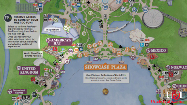"Canada, ""America's Hat,"" according to the Epcot Map. Image © Disney, perhaps modified a tad."