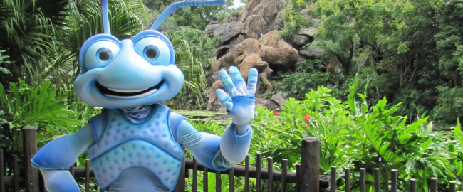 A Bug's Life's Flik, using an image ironically from Flickr. Photo by Loren Javier [CC BY-ND 2.0] via Flik-r.