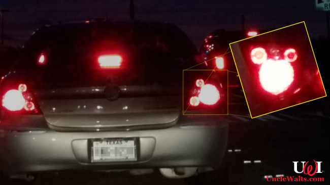 This car has Mickey tail lights, right? I'm not just seeing things? Photo by Marty.