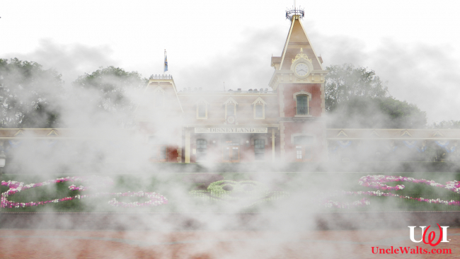 Disneyland's new smoking area. Can you spot the Hidden Mickey in the smoke? Photo by Ken Lund [CC BY-SA 2.0] via Flickr.