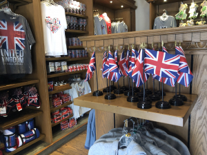 The Confederate battle flag for sale in the former U.K. Pavilion. Photo by Eagle-Eyed Reader, used without permission.