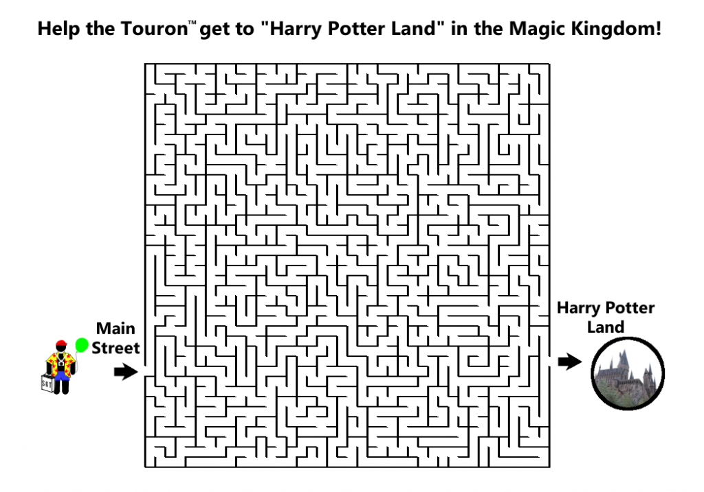 Can you help the Touron™ find Hogwarts at the Magic Kingdom?