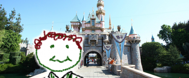 Marty is at Disneyland this week. He looks nothing like this. Photo by Carterhawk [CC BY-SA 3.0] via Wikimedia Commons.