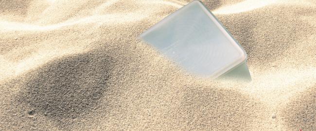 The famous Dead Sea Tupperware. Photo [CC0] via publicdomainpictures.net.
