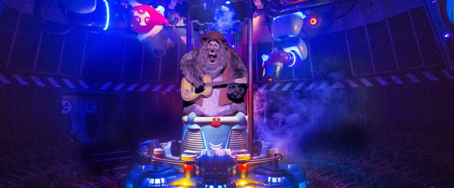 The Country Bear Escape featuring Stitch. Photo by Disney, modified. (We put a bear on it.)