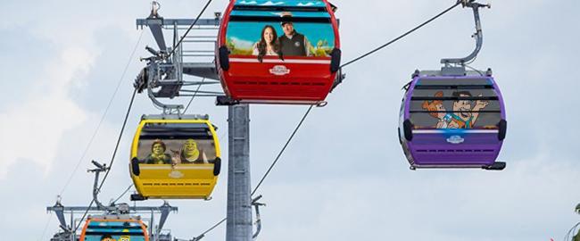 A few of the non-Disney gondolas. Photo by DisneyTouristBlog.com, used by permission, modified.